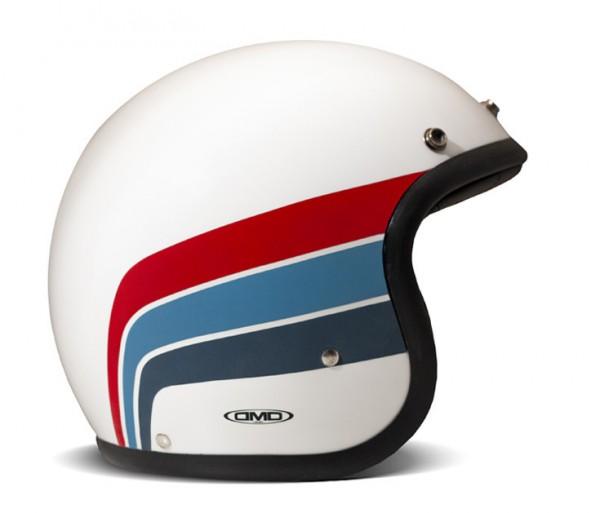 DMD Open Face Helmet Vintage Artemis white, blue and red