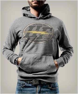 "HOLY FREEDOM Men's Hoodie - ""Shining"" - grey"