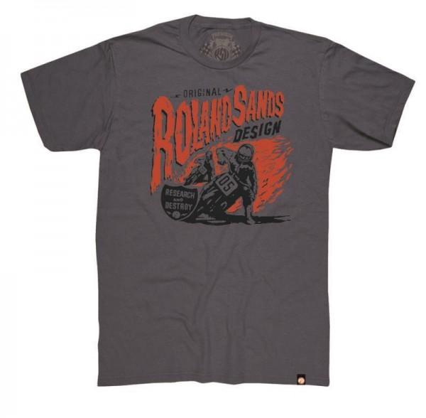 """ROLEND SANDS T-Shirt - """"R & D"""" - charcoal"""