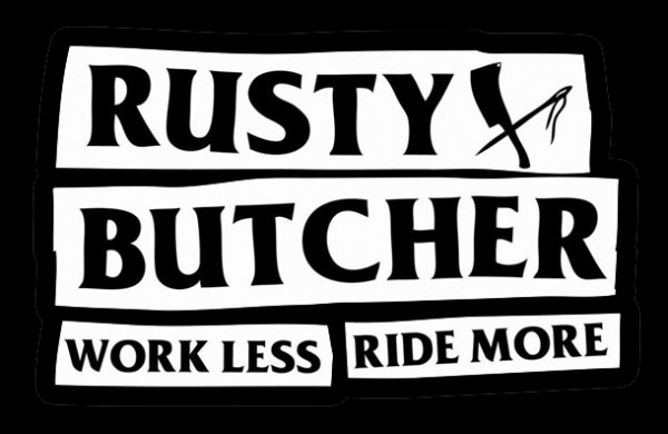 "RUSTY BUTCHER Sticker - ""Motto"" - 4 pieces"