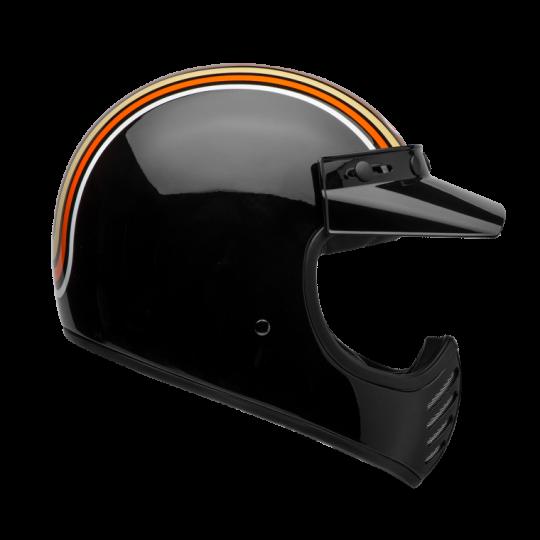 "BELL Moto 3 - ""Stripes Schwarz/Orange"" - ECE"