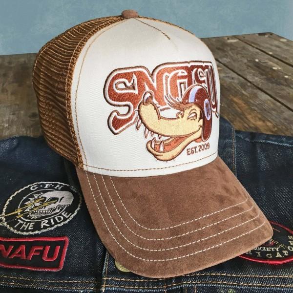 "HARRY DAMSON Hat - ""SNAFU"" - brown & beige"