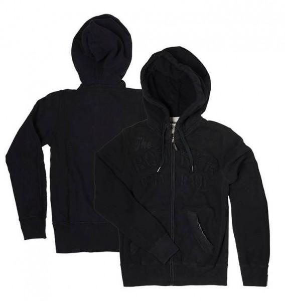 """ROKKER Men's Hoodie - """"TRC Zipper Black"""" - black"""