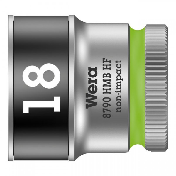 """WERA Tools - """"Zyklop 3/8"""" socket with holding function - Metric 18.0"""" - Hex bolts and nuts"""
