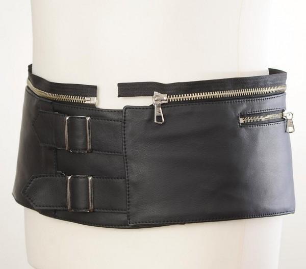 "HARRO Women's Leather Suit - ""Assen PRO Kidney Belt Attachment"" - black"