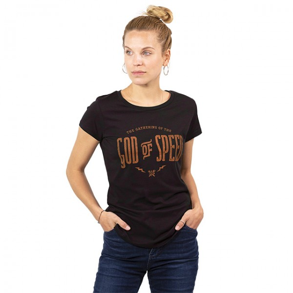 JOHN DOE Damen T-Shirt God of Speed in Schwarz