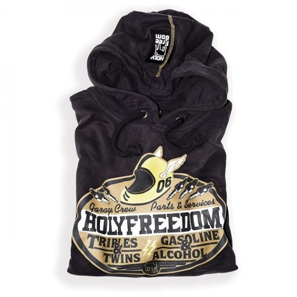 "HOLY FREEDOM Hoodie - ""Integrale"" - coal"