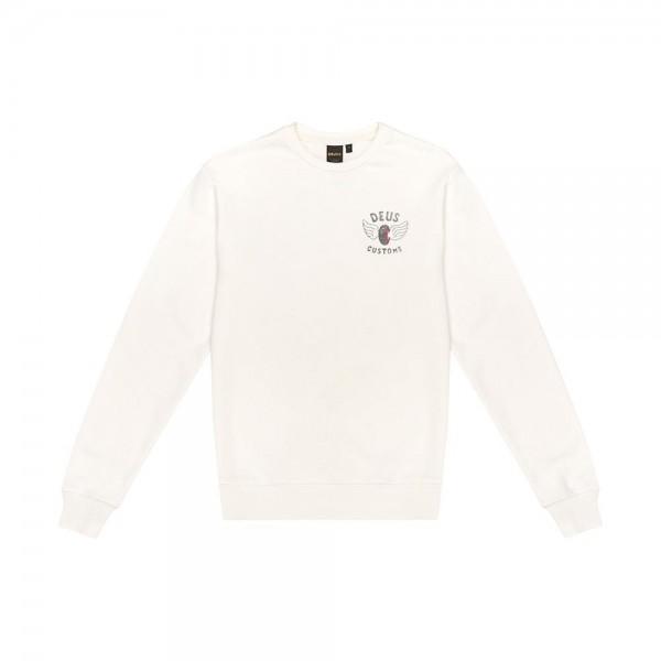 """DEUS EX MACHINA Sweatshirt - """"Eviction Crew"""" - vintage weiß"""