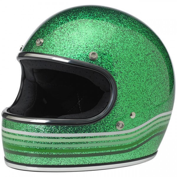 "BILTWELL - ""Gringo LE Spectrum"" - metal flake green - DOT"
