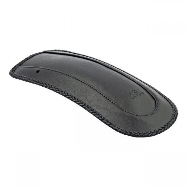 """MUSTANG Seat - """"Mustang, rear fender bib. Plain with braided edges"""" - 65-96 FLH, FLHT Touring (NU)"""