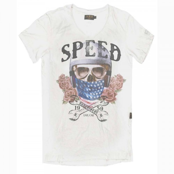 "RUDE RIDERS T-Shirt - ""Speed"" - weiß"