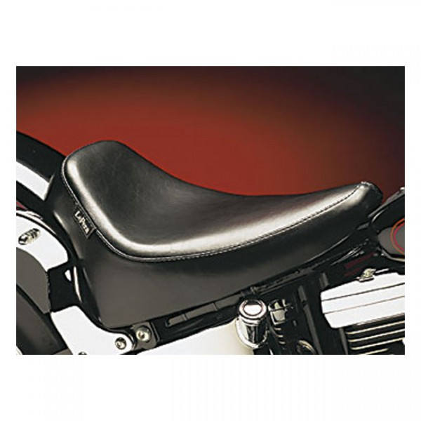 """LEPERA Seat - """"LePera, Silhouette Deluxe solo seat. Smooth. Gel"""" - 08-17 Softail (excl. FXS, FLS/S) with 150mm tire, fender mounted (NU)"""