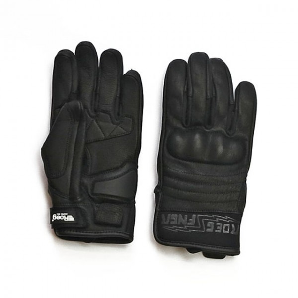 ROEG gloves FNGR All-Leather in black