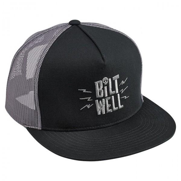 BILTWELL Cap Skully Grau und Schwarz