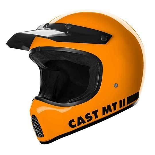 CAST MT 2 Orange Motorradhelm mit ECE