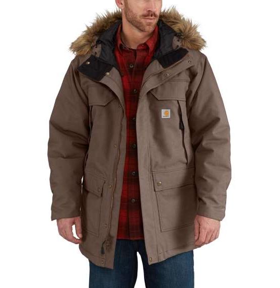"CARHARTT Jacket - ""Quick Duck® Sawtooth Parka"" - waterproof, dark canyon brown"