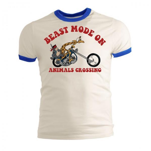 13 1/2 MAGAZINE T-Shirt Beast Mode On in Weiß