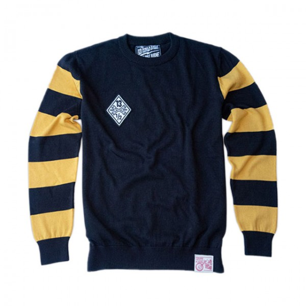13 1/2 MAGAZINE Sweatshirt Outlaw Free Bird schwarz und gelb