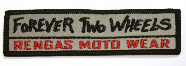"RENGAS Patch - ""Forever Two Wheels"" - reflective"