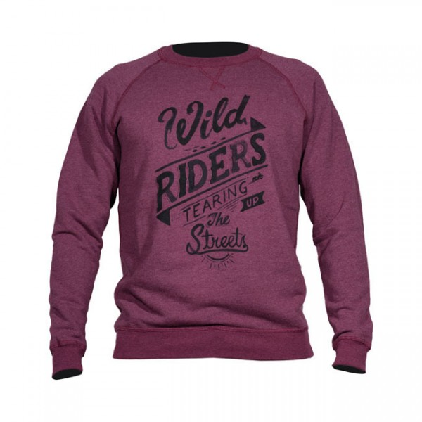 "DMD Sweatshirt - ""Riders"" - bordeaux"