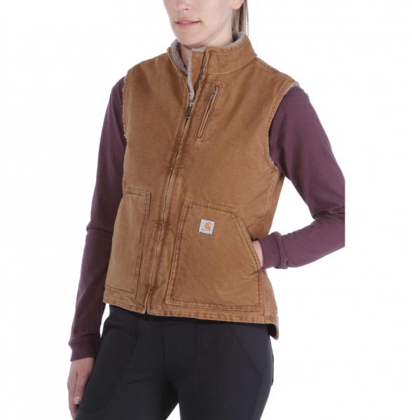 "CARHARTT Women Vest ""Sandstone Mock Neck Vest"" - brown"