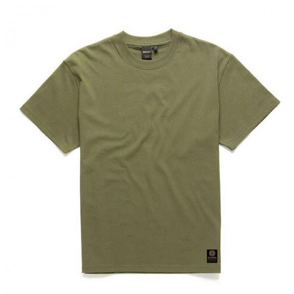 DEUS EX MACHINA T-Shirt Plain Military Tee in Grün