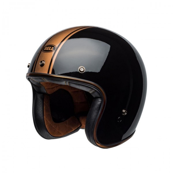 BELL Custom 500 DLX Rally Black Bronze open face helmet with ECE