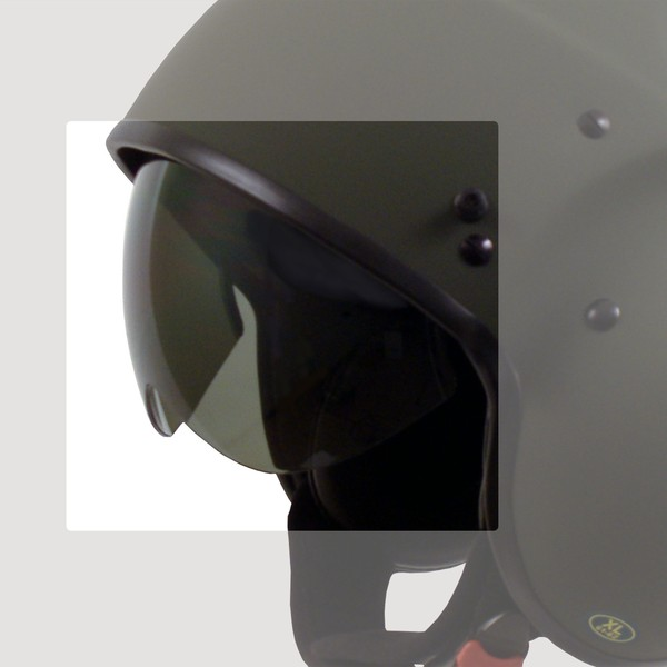 "DRAXTAR - ""P-104"" - dark tinted replacement visor"