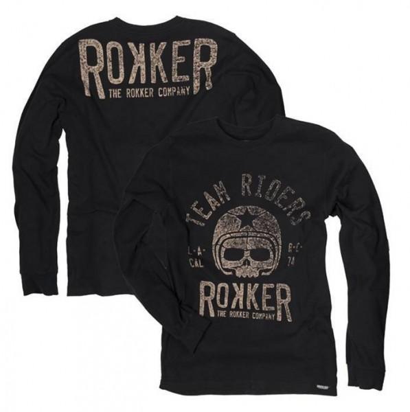 """ROKKER Langarm - """"Team Rider"""" - schwarz"""