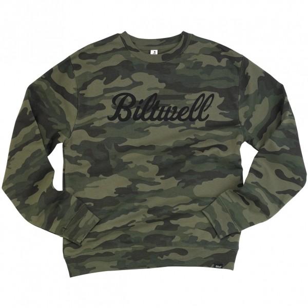 """BILTWELL Sweatshirt - """"Script Crew Neck"""" - camouflage"""