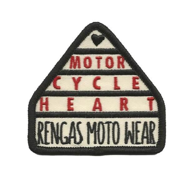 "RENGAS Aufnäher - ""Motorcycle Heart"""