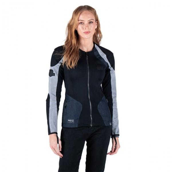 KNOX Damen Protektorenhemd Urbane Pro MK2 in Schwarz Grau und Denim