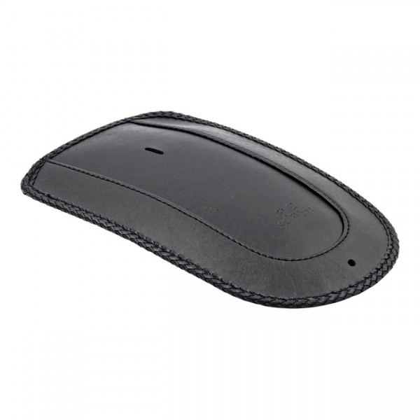"""MUSTANG Seat - """"Mustang, rear fender bib. Plain with braided edges"""" - 06-17 Softail with wide tire and Mustang solo seat (NU)"""