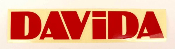"DAVIDA Sticker - ""DAVIDA"" - red"