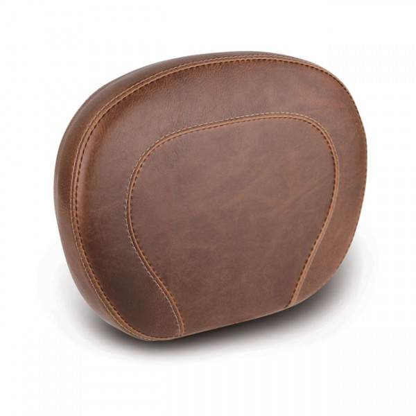 """MUSTANG Sitz - """"Mustang, setback sissy bar pad. Brown"""" - All H-D with OEM H-D Medallion style sissy"""