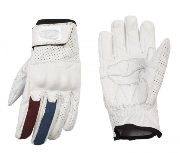 "FUEL Gloves - ""Dune"" - white, blue & red"