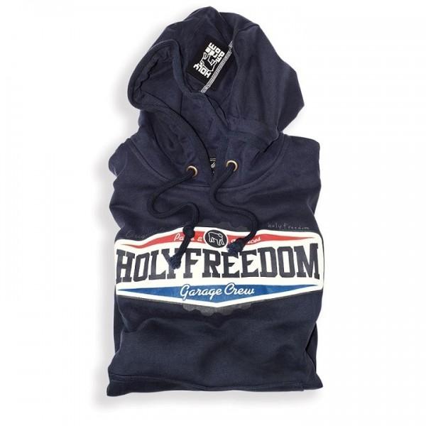 """HOLY FREEDOM Hoodie - """"Corona"""" - blau"""