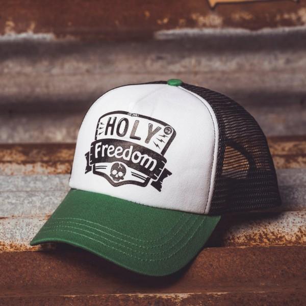 "HOLY FREEDOM Hat - ""Holy Skull"" - green, white & black"