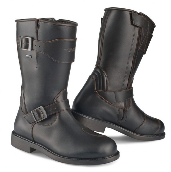 "STYLMARTIN Motorcycle Boots - ""Legend-R"" - waterproof dark brown"