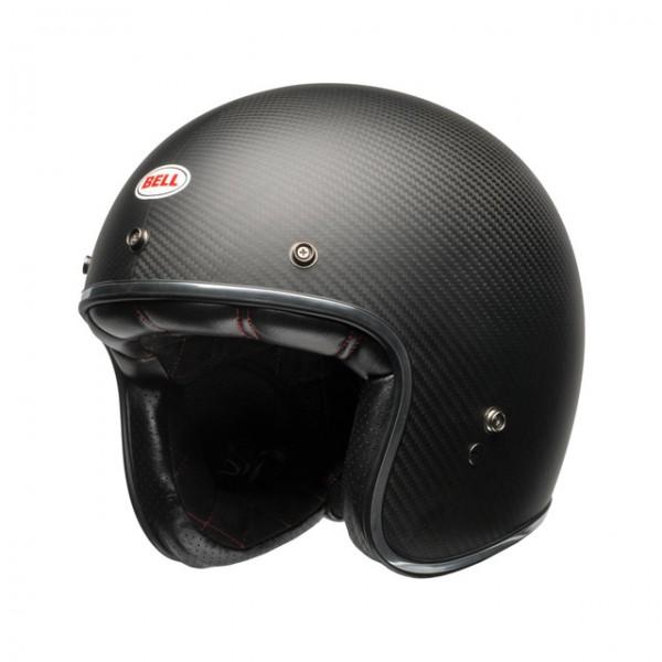 BELL open face helmet Custom 500 Carbon in matt black with ECE