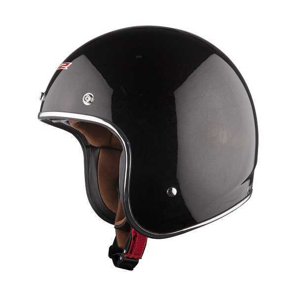 LS2 Bobber - schwarz-glänzend - Jethelm