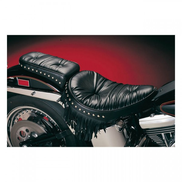"""LEPERA Sitz - """"Sanora solo seat. Regal Plush with fringes"""" - 08-17 Softail with 150mm tire (fender m"""