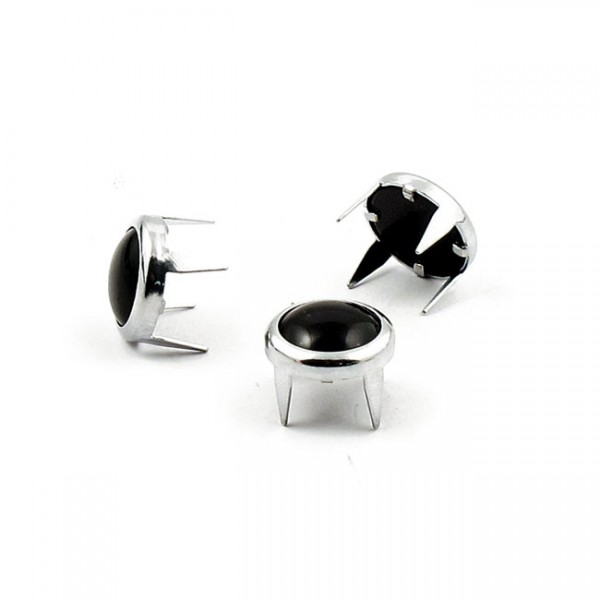 """MUSTANG Seat - """"Mustang, decorative studs. Chrome with black pearl"""" -"""