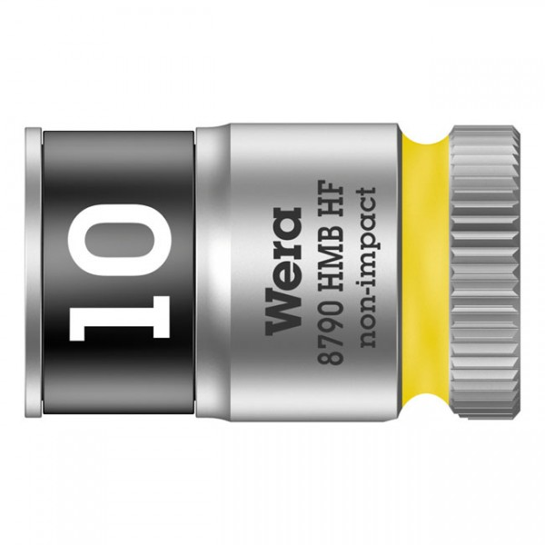 """WERA Tools - """"Zyklop 3/8"""" socket with holding function - Metric 10.0"""" - Hex bolts and nuts"""