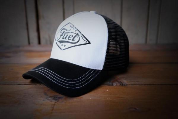 """FUEL Hat - """"Stamp"""" - black & white"""