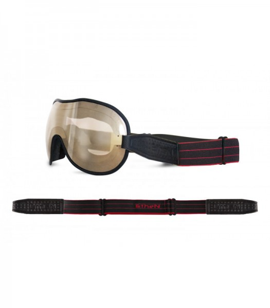"""ETHEN Goggles - """"Cafe Racer CR0108"""" - light brown mirrored"""