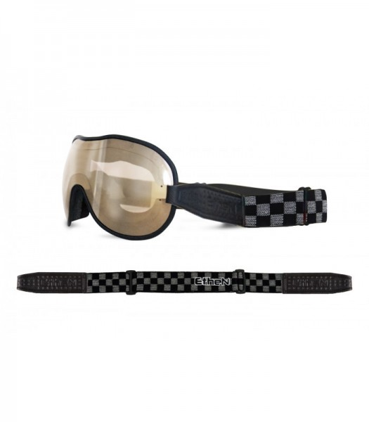 """ETHEN Goggles - """"Cafe Racer CR0112"""" - light brown mirrored"""