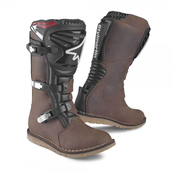 """STYLMARTIN - """"Impact-RS"""" - waterproof motorcycle boots dark brown"""