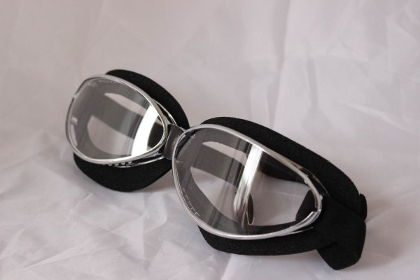 AVIATOR Goggles Mod 4601 chrome and foamrubber