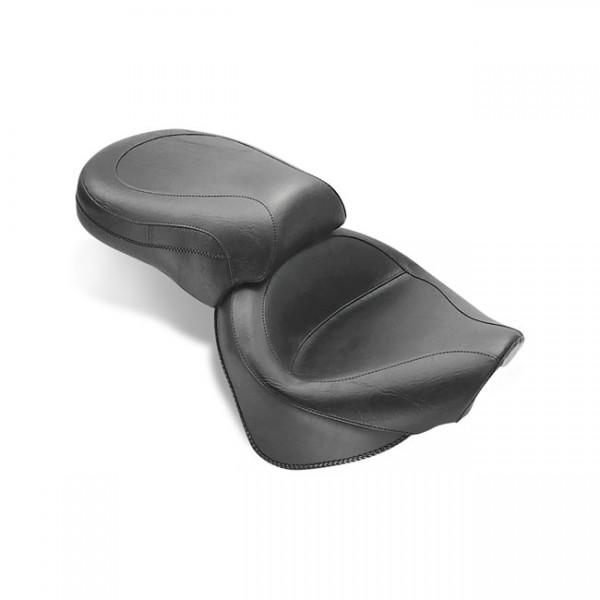 """MUSTANG Seat - """"Mustang 2-p wide touring vintage seat plain black"""" - 99-11 Yamaha V-Star1100 Custom"""